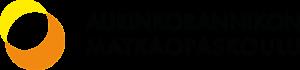 Aurinkorannikon Matkaopaskoulun logo, keltainen ja oranssi